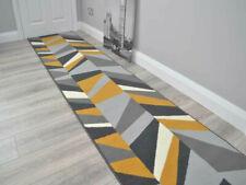 Ochre Mustard Grey Gold Small Extra Long Narrow Hall Hallway Runner Corridor Rug
