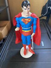 Vintage SUPERMAN SUPERHERO ACTION FIGURE CAPE & Stand ~ 1988 DC COMICS