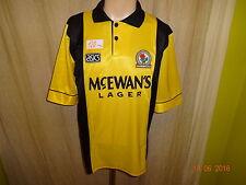 "Blackburn Rovers asics Ausweich Trikot 1993-1995 ""Mc EWAN´S Lager"" Gr.M- L TOP"