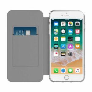 Incipio iPhone 8 Plus & 7 Plus Wallet Card Flip Folio Case Cover - Black/Clear