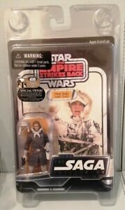 Star Wars Saga Collection Han Solo (Hoth Outfit) RARE UNPUNCHED. By Kenner 2007.