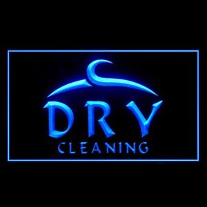 190023 OPEN Dry Cleaning Laundromat Independent Cleanest Display Neon Sign