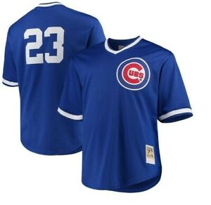 Authentic Mitchell & Ness Chicago Cubs #23 Baseball Jersey New Mens $90
