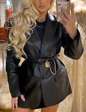 Zara Black Gold Medallion Chain Belt Size 32