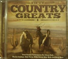 2 CD BOX 50 COUNTRY GREATS CASH NELSON PARTON JENNINGS WELLS ROGERS WHITMAN ETC