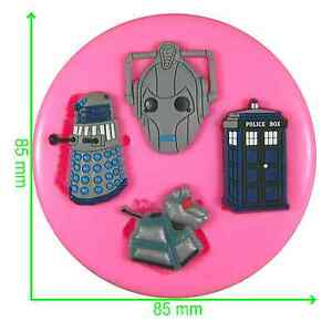 Dr Who Tardis Darlek K-9 & Cyberman Silicone Mould by Fairie Blessings