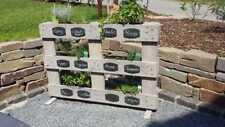 Gartenschilder / Pflanzenschilder Schieferellipse gelocht ca.10x5cm 8er Set