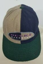 Vtg Mighty Ducks NHL headgear color block hat cap H20