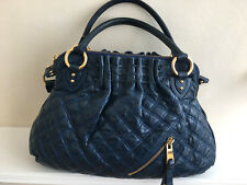 AUTHENTIC MARC JACOBS Blue Quilted Leather Two Way Handbag Shoulder Bag
