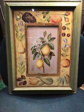 "Fabrice DeVilleneuve Lemon Blossoms 14.5"" x 18.5"" Framed in Very Good Condition"