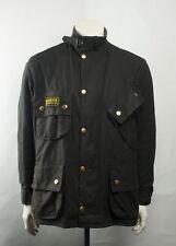 Barbour International Waxed Motorcycle Jacket Black Size 42