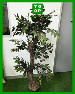 150cm Height Artificial Fake Plant Ficus Tree Brand New With Pot Green Leaves