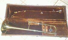 VINTAGE OLDS AMBASSADOR trombone Fullerton CA w/original case
