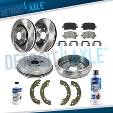 Front Rotors Rear Drums + Brake Pads & Shoes for 2003 2004 - 2008 Toyota Corolla