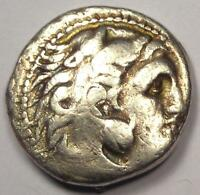 Alexander the Great III AR Drachm Coin 336-323 BC - Very Fine Details!