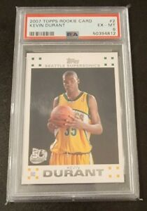 2007 Topps Rookie Card Kevin Durant Seattle Supersonics #2 PSA Graded
