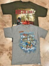 Lot of 2 Kids Teens Disney T-Shirts Walt Disney World Jersey Train Theme Park