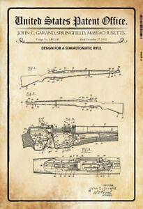 US Patent Springfield Gewehr Rifle 1932 Blechschild Schild Tin Sign 20 x 30 cm