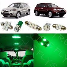 14x Green LED Interior Lights Package Kit for 2007-2012 Acura RDX + Tool AR2G