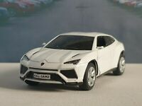 LAMBORGHINI URUS WHITE 1.38 DIECAST MODEL CAR PERSONALISED PLATES NEW BOYS TOYS