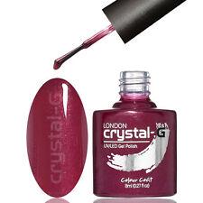 Shellac UV LED Salon Quality Soak off GEL Nail Polish by Crystal-g London G15 - Cherry Garcia
