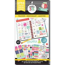 Create 365 The Happy Planner Value Sticker Pack Teacher 1733pc. New! 2017 Mambi!