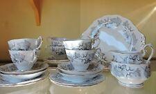 Servizio da tè per 6 Royal Albert Silver Maple Pattern c1970 Tea service for 6