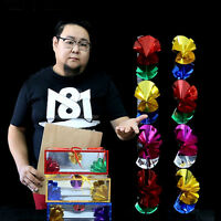 Magic Trick Flower Boxes From Empty Paper Bag Magician Stage Show Props Super