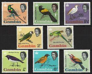Gambia, 1963, postfr., Vögel, MiNr. 170-177