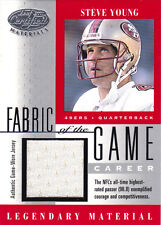 2001 Leaf Certified Steve Fabric of the Game Silver Jersey /96