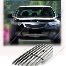 For Honda Acura TSX 2009-2010 Metal Front Bumper Loewr Grille Grill Trim Refit