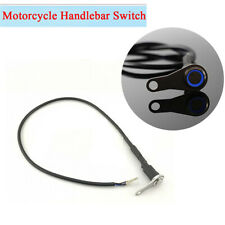 Motorcycle Handlebar ON OFF Switch Manual-return Button Blue LED Indicator IP65