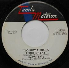 """*MARVIN GAYE Too busy thinking../ Wherever NM- CANADA 1969 NORTHERN SOUL 45 7"""""""