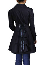 coat gothic jacket black steampunk victorian corset women plus military uk women