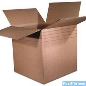 "12.25"" x 9.25"" x 12, 10, 8, 6""  Kraft Multi Depth Shipping Boxes 25 Pc"