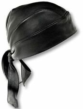 New Motorcycle Leather Head Wrap Bonnet Bandana Cap Biker Cycling Style Skull