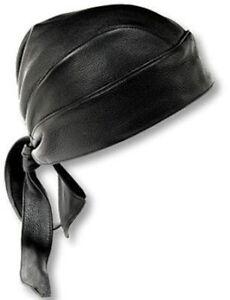 New Motorcycle Leather Head Wrap Bonnet Bandana Cap Biker Cycling Style Skull