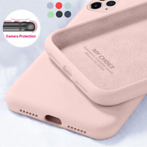 Phone Case For iPhone 11 Pro Max 12 Pro X XS XR SE 8 7 6S Liquid Silicone Cover