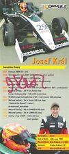 Josef Kral (GP2, F1 test driver, Blancpain) SIGNED Formula Master promo card