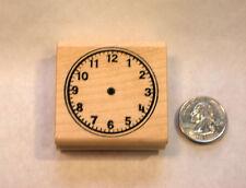 Handless Clock Teacher's Rubber Stamp, wood mounted