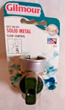Gilmour Solid Metal Full Flow Control Connector, Single shut-off control valve