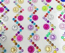 Dz835 Phone Car PC Decor Self Adhesive Flower Crystal Rhinestone Bling Stickers