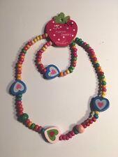 Wooden Beads (HEARTS) Children's Necklace & Bracelet Sets-K4