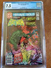 BRAVE AND THE BOLD # 176 DC COMICS  CGC GRADED 7.5 BATMAN SWAMP THING COMIC LOT