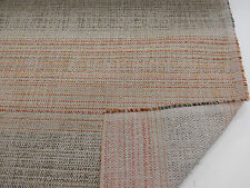 """Orange & Grey """"Blended Woven Stripe""""  Heavy Upholstery Fabric. By NEXT"""