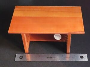 Dining Table Pecan Mission 1:12 #T72340 Retired Stain Dollhouse Miniature