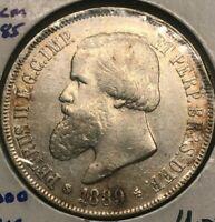 1889 Brazil 2000 Reis - Big Silver