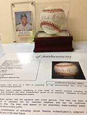 HANK AARON w/ COA  Signed Baseball 1994-99 & Hostess Twinkie#130 Card 1975
