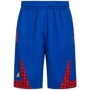 Frankreich adidas Herren Basketball Fan Sport Shorts kurze Hose AI6325 blau neu