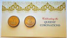 "2013 UNC $1 set of 2 Coronations 60th QE II 175th Queen Victoria ""P"" mintmark"